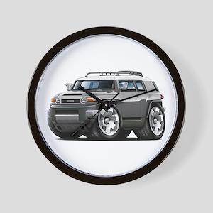 FJ Cruiser Grey Car Wall Clock