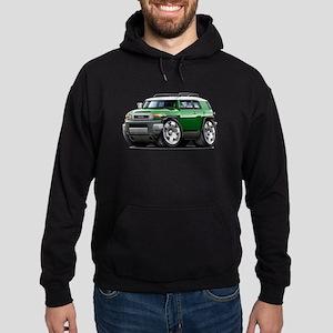 FJ Cruiser Green Car Hoodie (dark)