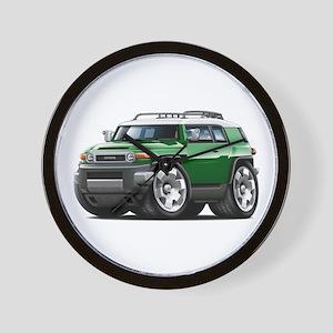 FJ Cruiser Green Car Wall Clock