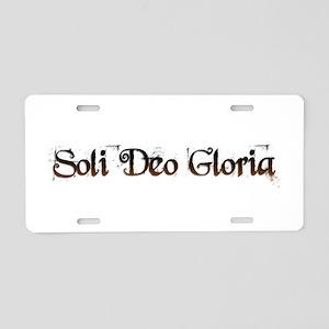 Soli Deo Gloria Aluminum License Plate