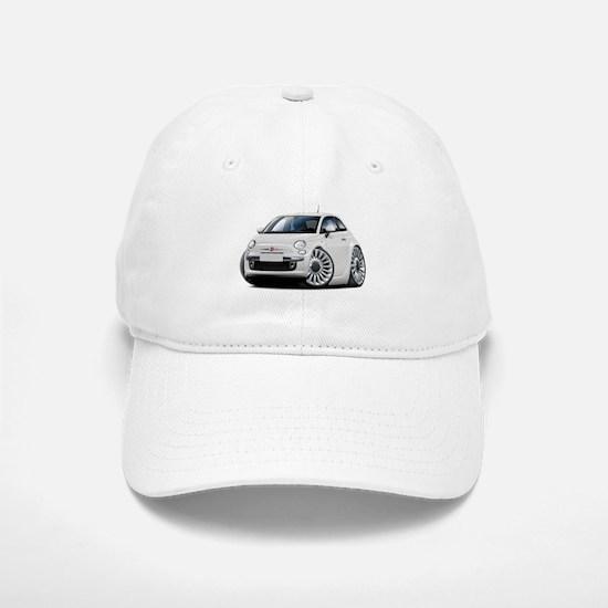 Fiat 500 White Car Baseball Baseball Cap