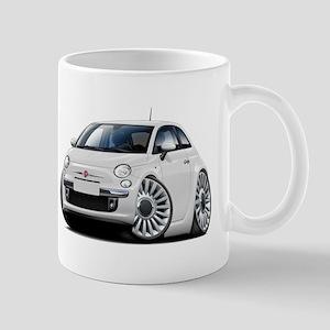 Fiat 500 White Car Mug