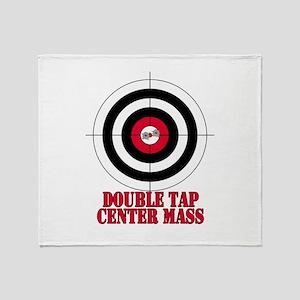 Bullseye Target Gun Safety Throw Blanket