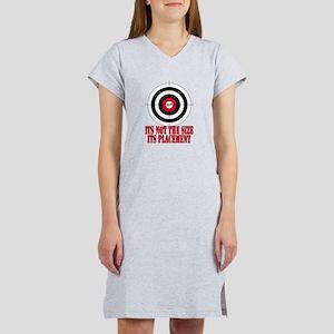 Target Practice Funny Women's Nightshirt