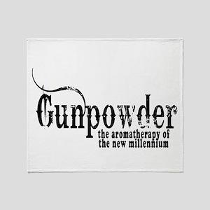 Gunpowder Gun Humor Throw Blanket