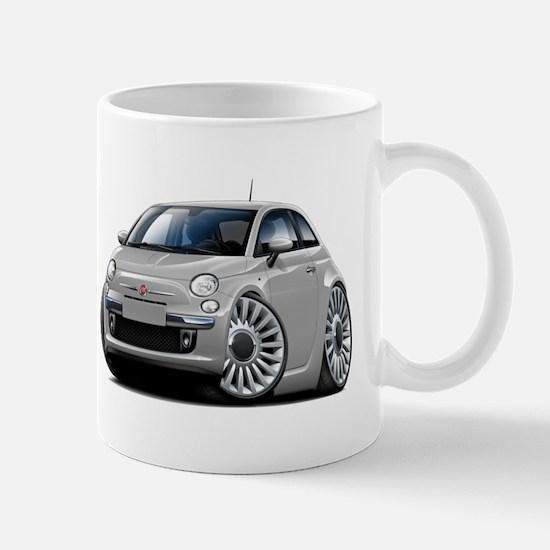 Fiat 500 Silver Car Mug
