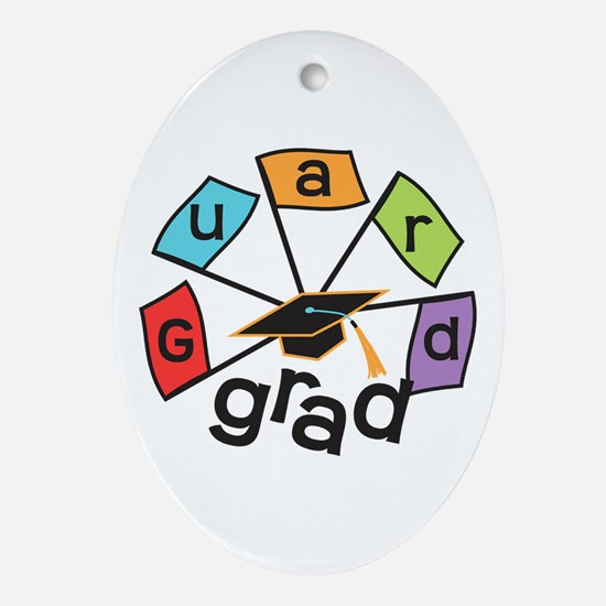 Guard Grad Flags Ornament (Oval)
