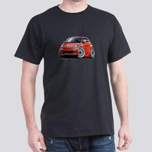 Fiat 500 Red Car Dark T-Shirt