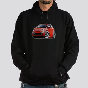 Fiat 500 Red Car Hoodie (dark)