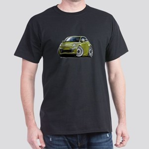 Fiat 500 Olive Car Dark T-Shirt