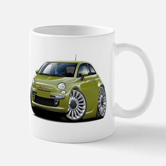 Fiat 500 Olive Car Mug