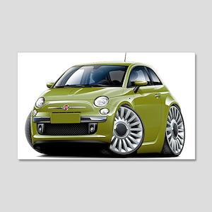 Fiat 500 Olive Car 22x14 Wall Peel