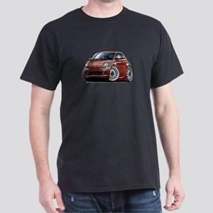 Fiat 500 Maroon Car Dark T-Shirt