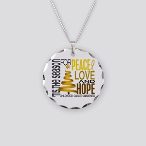Christmas 1 Childhood Cancer Necklace Circle Charm