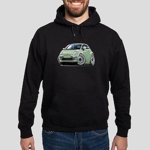 Fiat 500 Lt. Green Car Hoodie (dark)