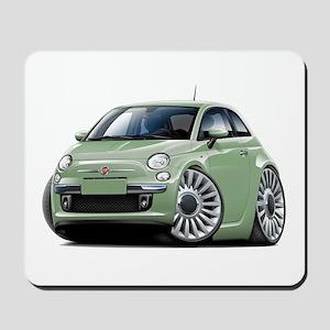 Fiat 500 Lt. Green Car Mousepad