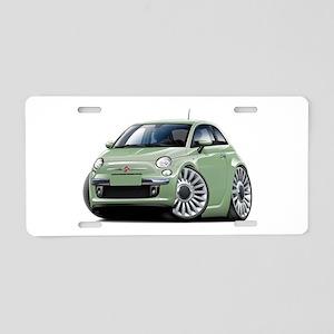 Fiat 500 Lt. Green Car Aluminum License Plate