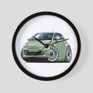 Fiat 500 Lt. Green Car Wall Clock