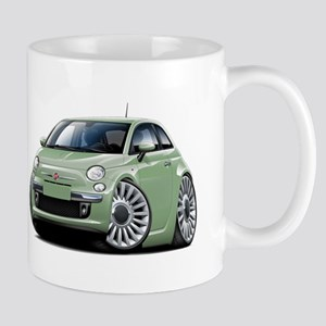 Fiat 500 Lt. Green Car Mug