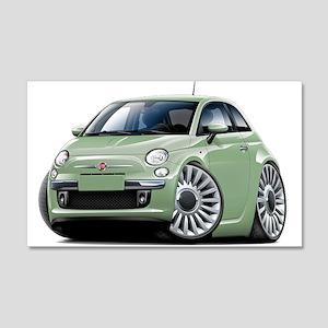 Fiat 500 Lt. Green Car 22x14 Wall Peel