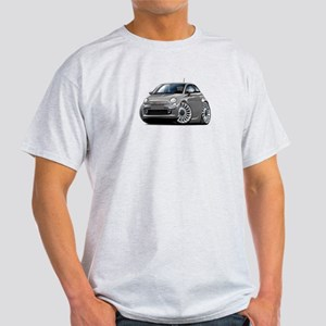 Fiat 500 Grey Car Light T-Shirt