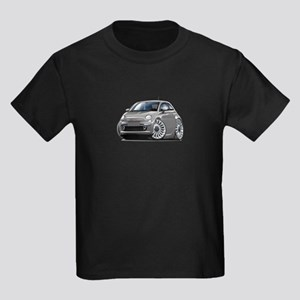 Fiat 500 Grey Car Kids Dark T-Shirt