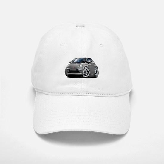 Fiat 500 Grey Car Baseball Baseball Cap