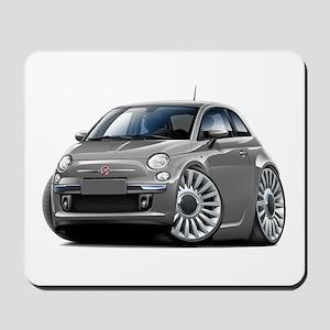 Fiat 500 Grey Car Mousepad