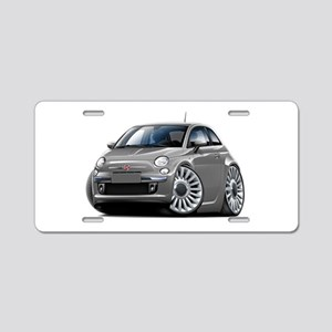 Fiat 500 Grey Car Aluminum License Plate