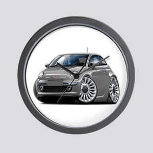 Fiat 500 Grey Car Wall Clock