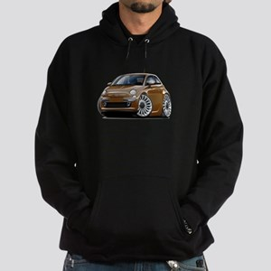 Fiat 500 Brown Car Hoodie (dark)