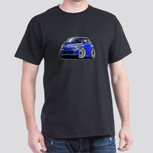 Fiat 500 Blue Car Dark T-Shirt
