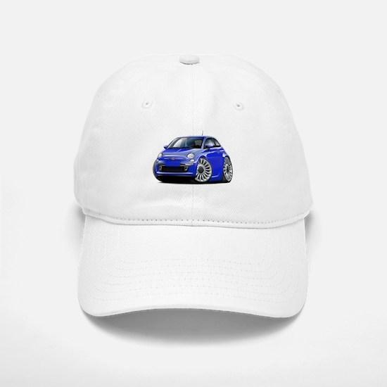Fiat 500 Blue Car Baseball Baseball Cap