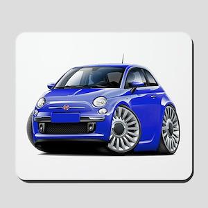 Fiat 500 Blue Car Mousepad