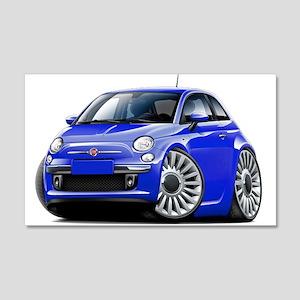 Fiat 500 Blue Car 22x14 Wall Peel
