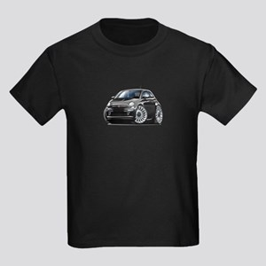 Fiat 500 Black Car Kids Dark T-Shirt