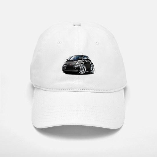 Fiat 500 Black Car Baseball Baseball Cap