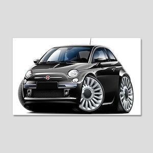 Fiat 500 Black Car 22x14 Wall Peel