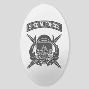 Combat Diver Supervisor w Tab B-W Sticker (Oval)
