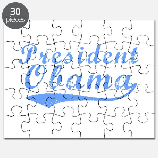 President Obama Blue Puzzle