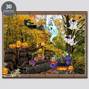 Witches Ghosts Pumpkins Puzzle