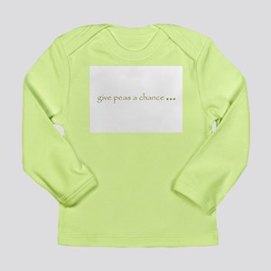 Eat Your Peas Long Sleeve Infant T-Shirt