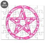 Pink Camo Pentagram Puzzle