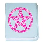 Pink Camo Pentagram baby blanket