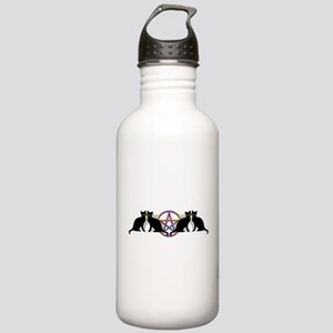 Black cat magic witch Stainless Water Bottle 1.0L