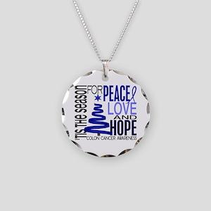 Christmas 1 Colon Cancer Necklace Circle Charm