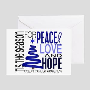 Christmas 1 Colon Cancer Greeting Card