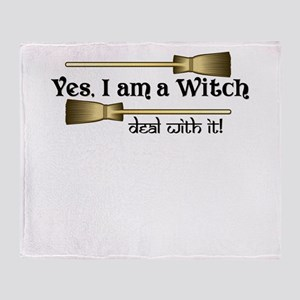 Yes I am a Witch Throw Blanket