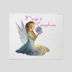 Magic Fairy Girl Throw Blanket