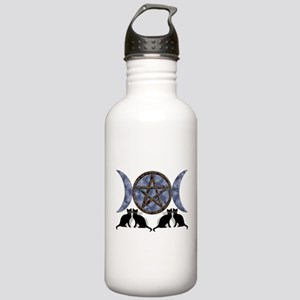 Mystic Blue Pentagram Stainless Water Bottle 1.0L